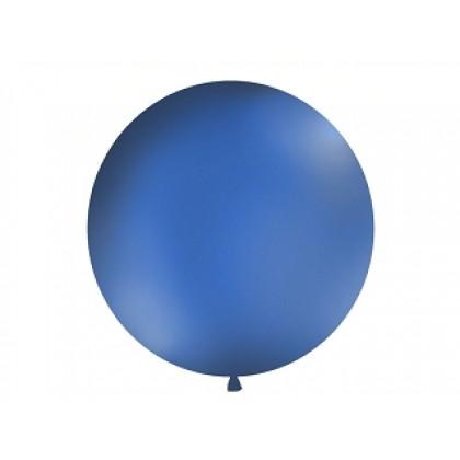 Balionas 1m skersmens mėlynas matinis