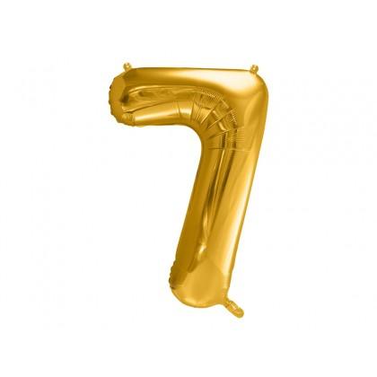 Balionas folinis skaičius 7 auksinis 86 cm