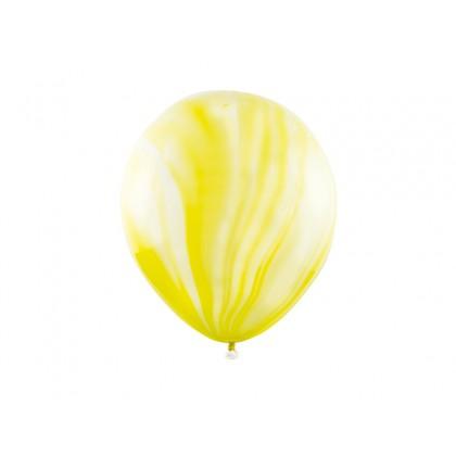 Balionai su marmuriniu atspalviu geltoni 30cm