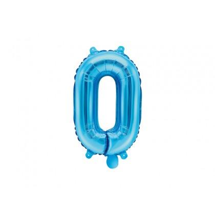 Balionas folinis skaičius 0 mėlynas 35cm
