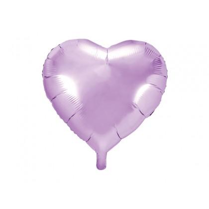 """Balionas folinis """"Širdelė"""" šviesiai violetinis 45cm"""