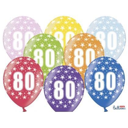 Balionai 80-as gimtadienis 30cm striprūs