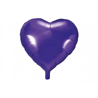 """Balionas folinis """"Širdelė"""" violetinis 45cm"""