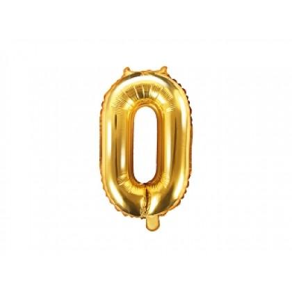 Balionas folinis skaičius 0 auksinis 35cm