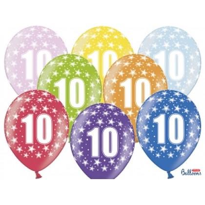 Balionai 10-as gimtadienis 30cm striprūs
