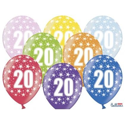 Balionai 20-as gimtadienis 30cm striprūs