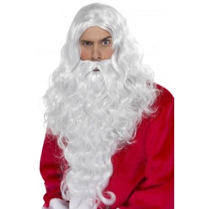 Kalėdų senio barzda ilga ir perukas